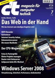 c't magazin für computertechnik Magazin